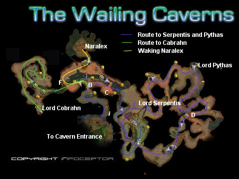 Main wailing caverns karte 1 publicscrutiny Image collections